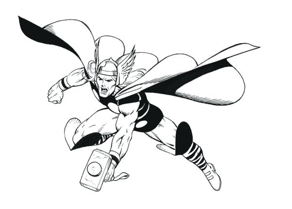 600x431 Thor Coloring Page Pictures Color The Avengers Pictures