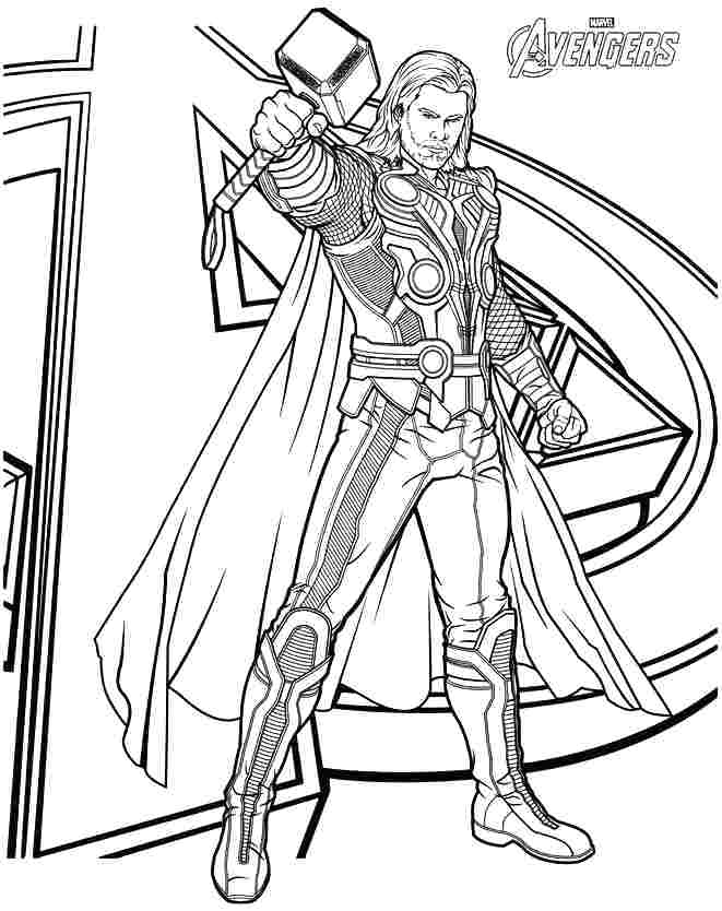 661x834 Thor Coloring Page Printable Coloring Pages Lego Thor Colouring