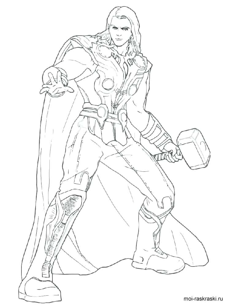 Thor Coloring Pages at GetDrawings | Free download