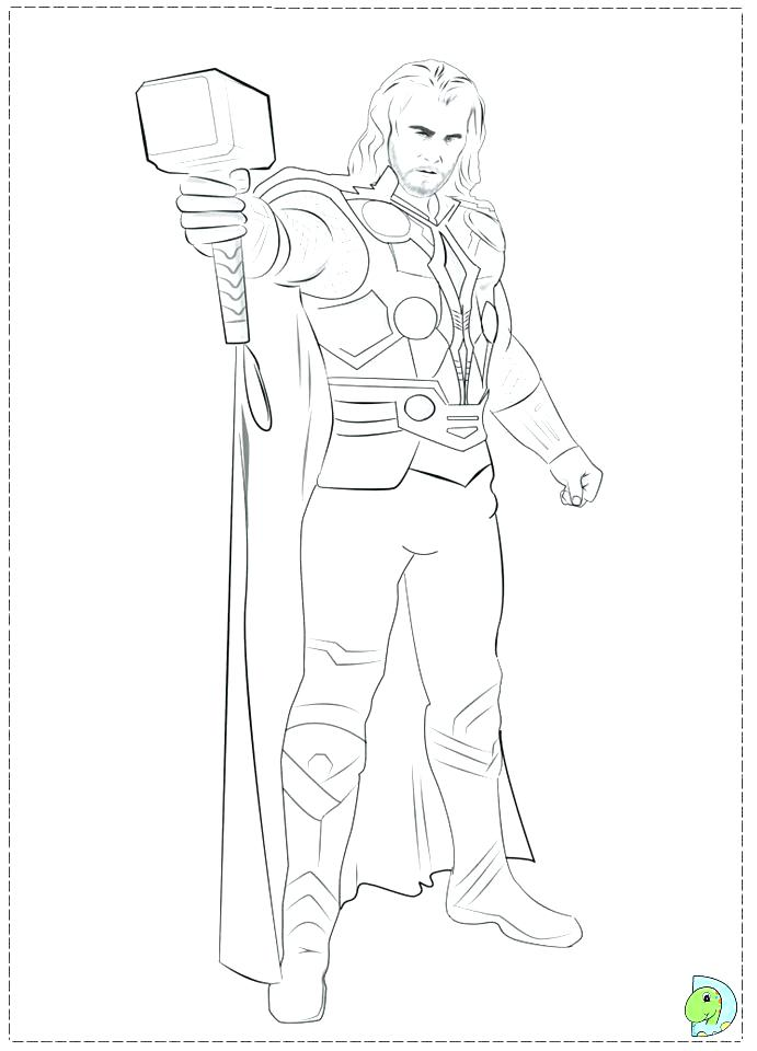 691x960 Thor Coloring Pages Entertaining Coloring Pages Free Download Page