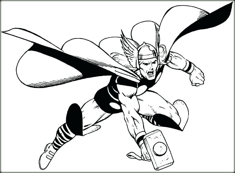 814x600 Thor Coloring Pages Thor Cartoon Coloring Pages