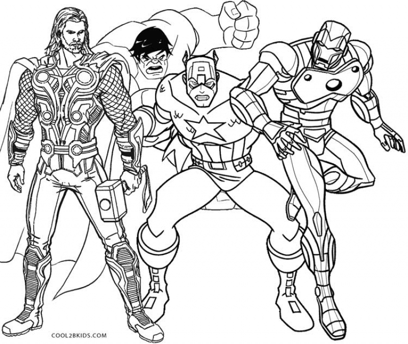 thor coloring pages 34