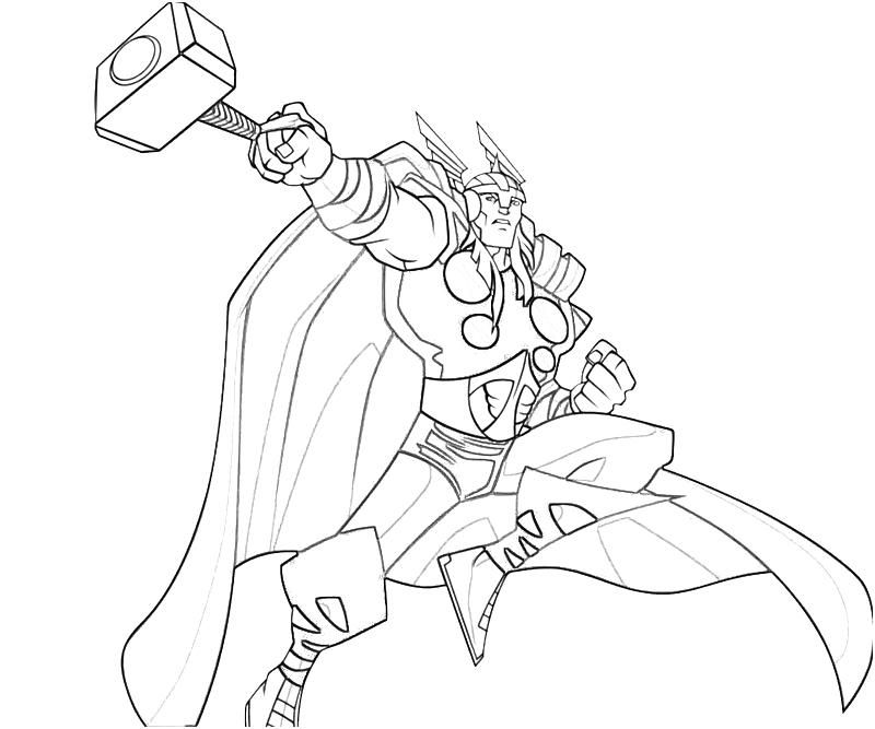 800x667 Free Printable Thor Coloring Pages For Kids Thor, Comic