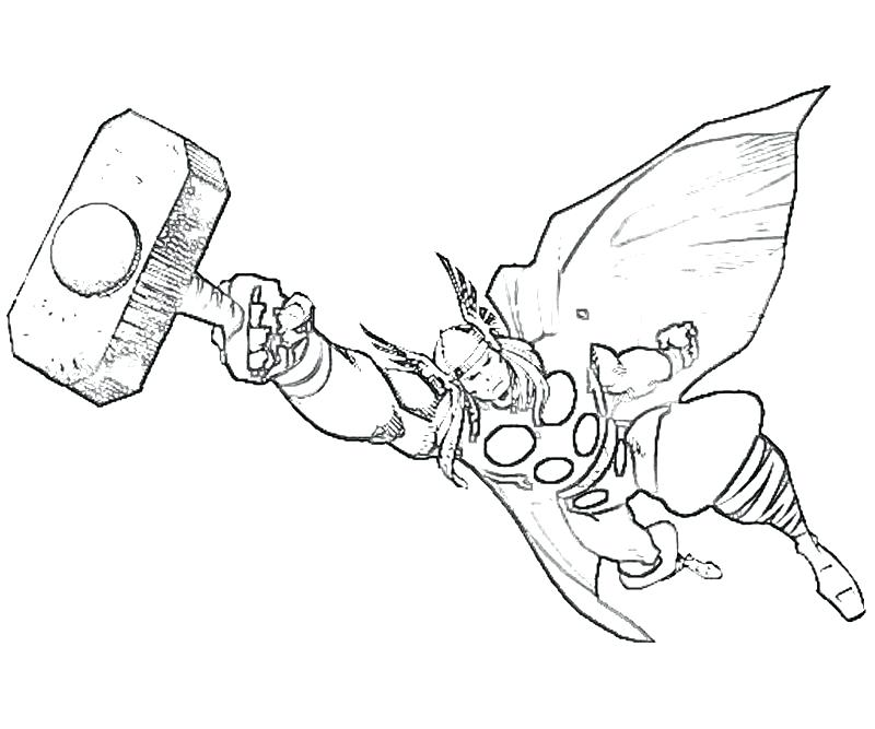 Thor Coloring Pages At Getdrawings Com Free For Personal Use Thor