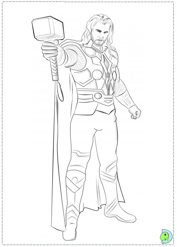 691x960 Avengers Thor Colouring Pages On Thor The Mighty God Coloring P