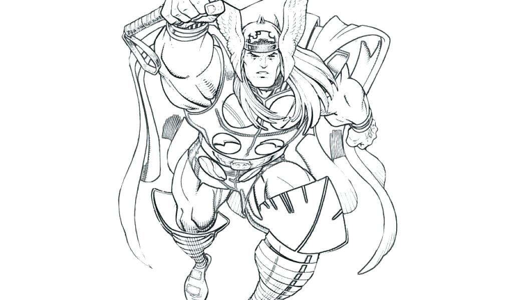 1024x600 Thor Coloring Page Coloring Page Movie Coloring Pages Printable