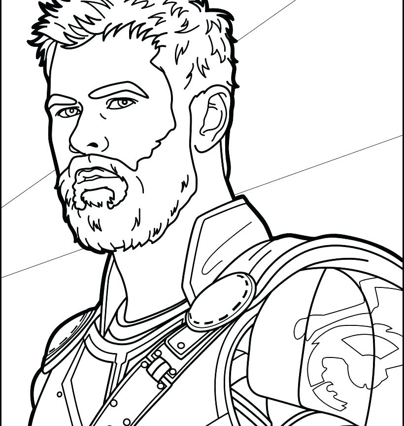 820x864 Thor Coloring Page Squad Colouring Pages Page Thor Free