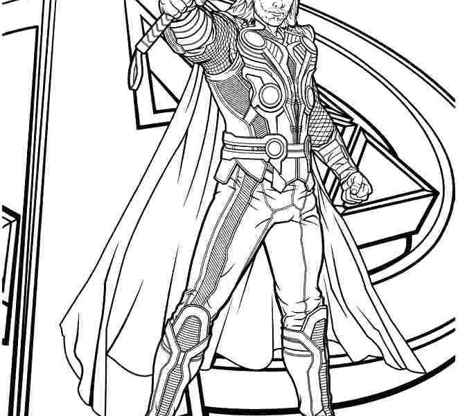 661x600 Brilliant Decoration Thor Coloring Pages Thor Coloring Page