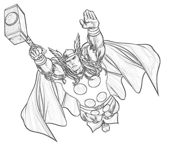 600x500 Thor Coloring Pages Printable For Kids Coloring Pages