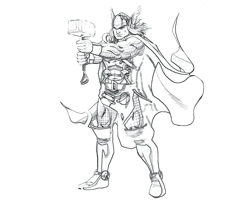 800x667 Thor Hammer Coloring Page Beautiful To Color Coloring Sketch Is