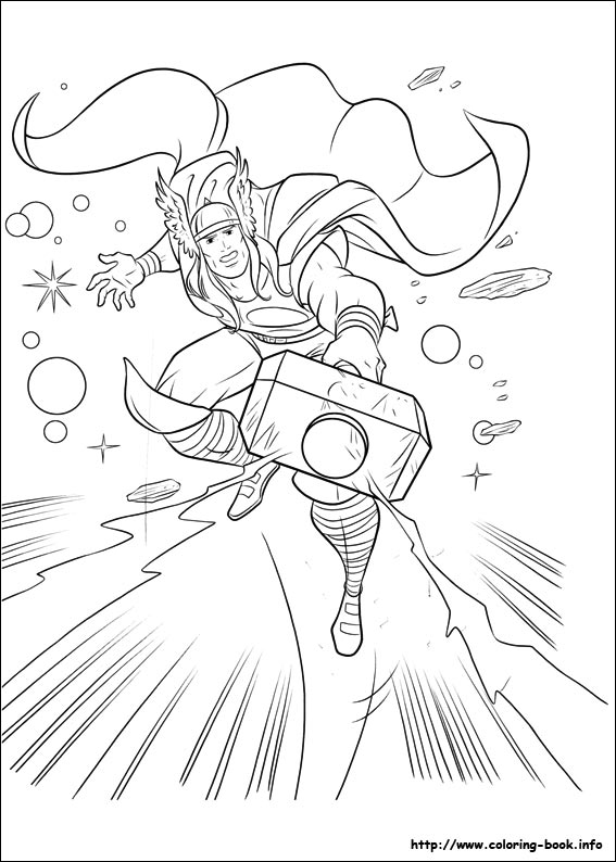 567x794 Thor Coloring Pages On Coloring