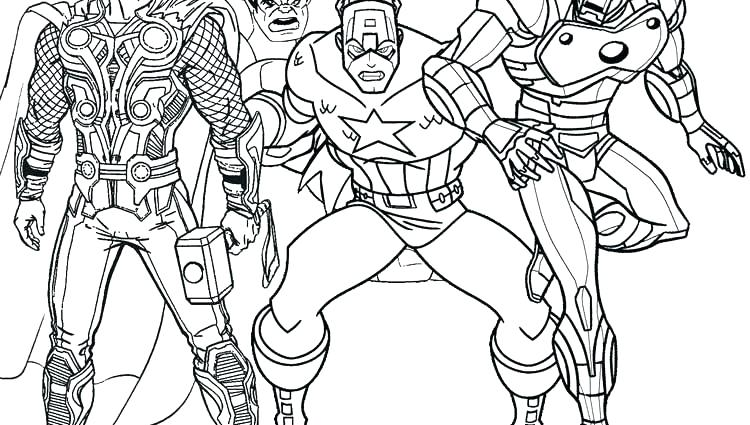 750x425 Coloring Pages Thor Avengers Coloring Page Female Superhero