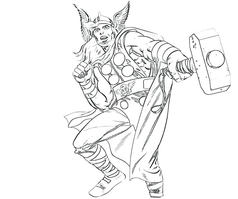 800x667 Coloring Pages Thor Coloring Page Hammer Coloring Pages Colouring