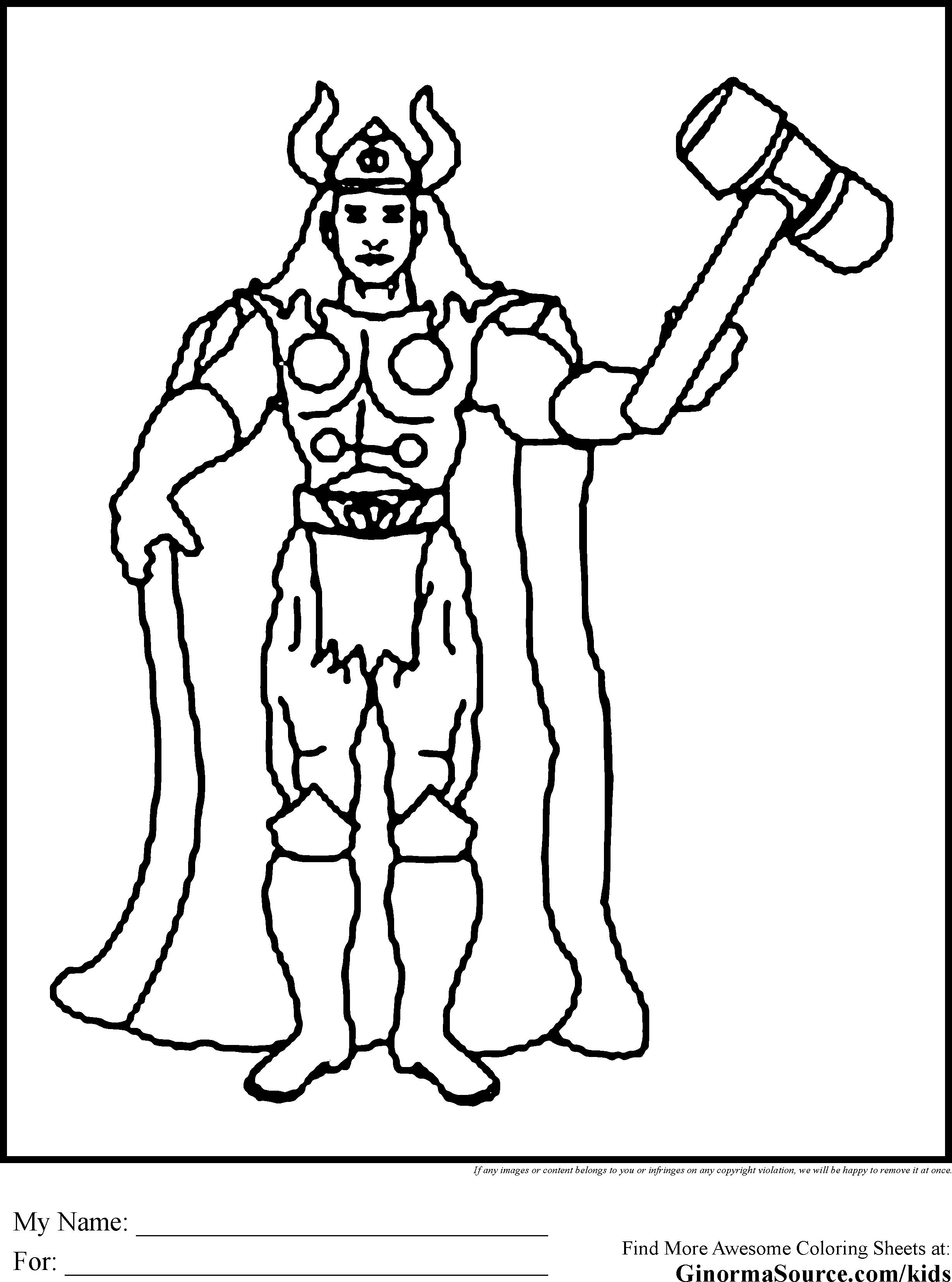 2459x3310 Marvel Thor Coloring Page Free Printable Pages Of For Adults