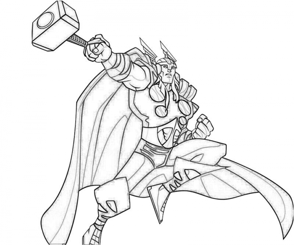 960x800 Free Printable Thor Coloring Pages