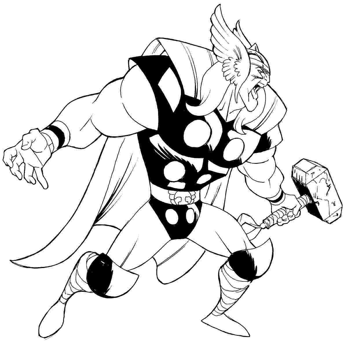 1195x1178 Stunning Avengers Thor Coloring Page Printable For Menmadehome