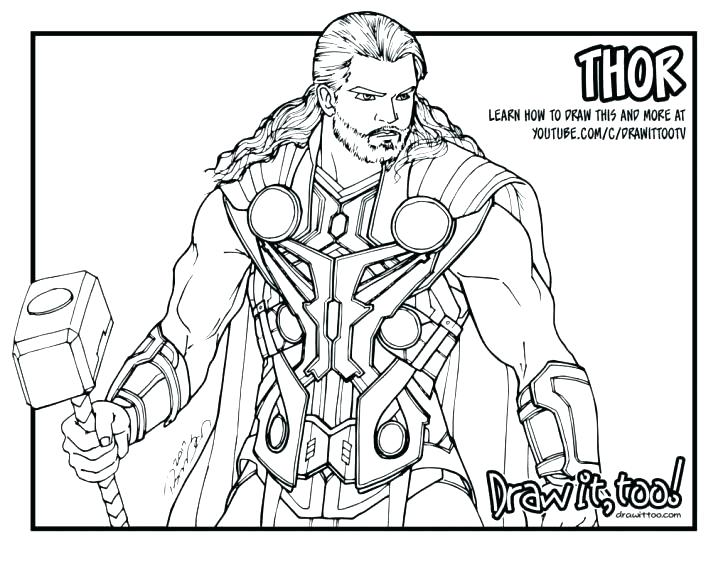 728x562 Thor Coloring Pages Hulk And Coloring Pages Thor Hammer Coloring