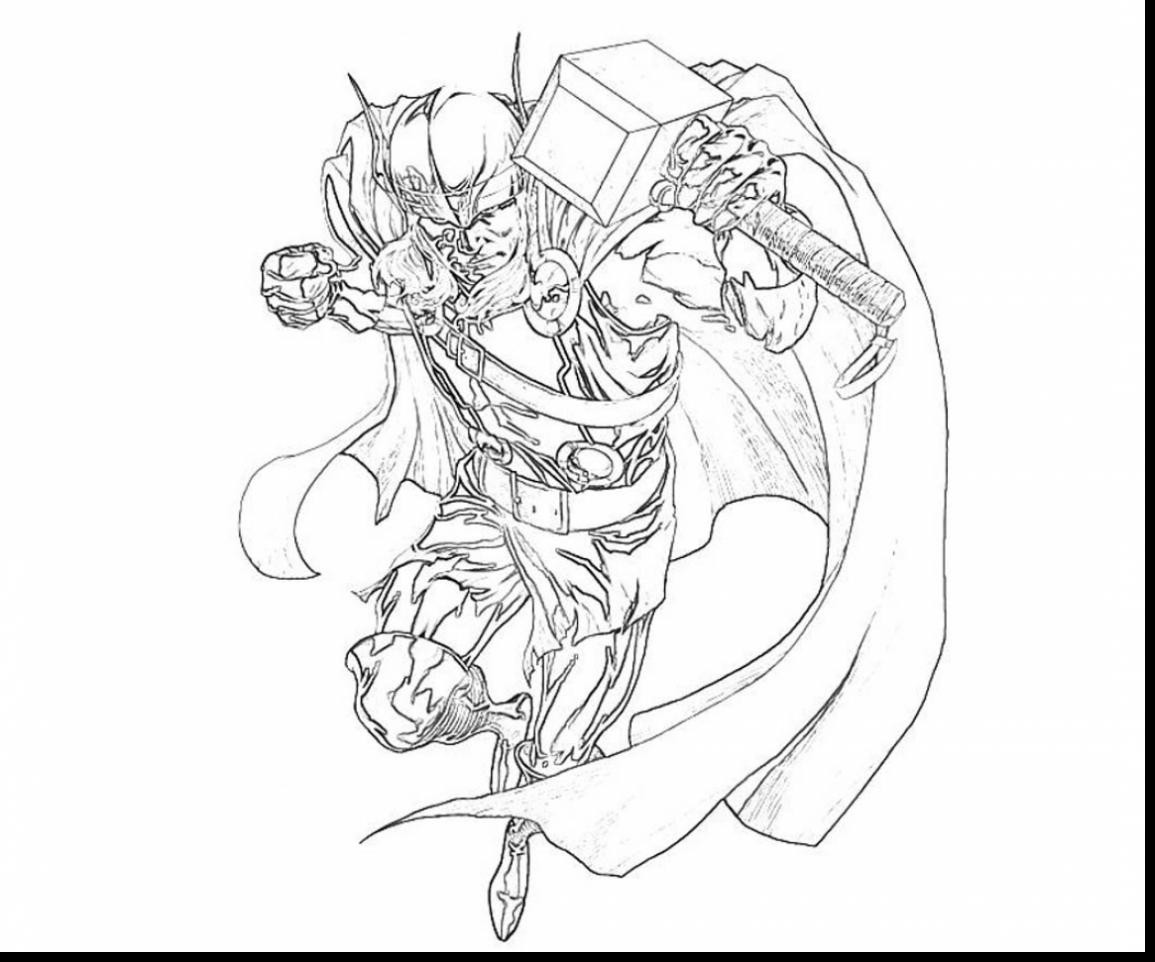 1155x962 Lovely Thor Coloring Pages