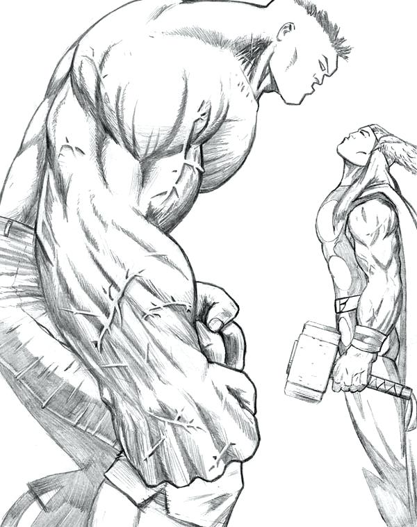 600x758 Thor Coloring Pages Vs Hulk Coloring Page Thor Free Printable