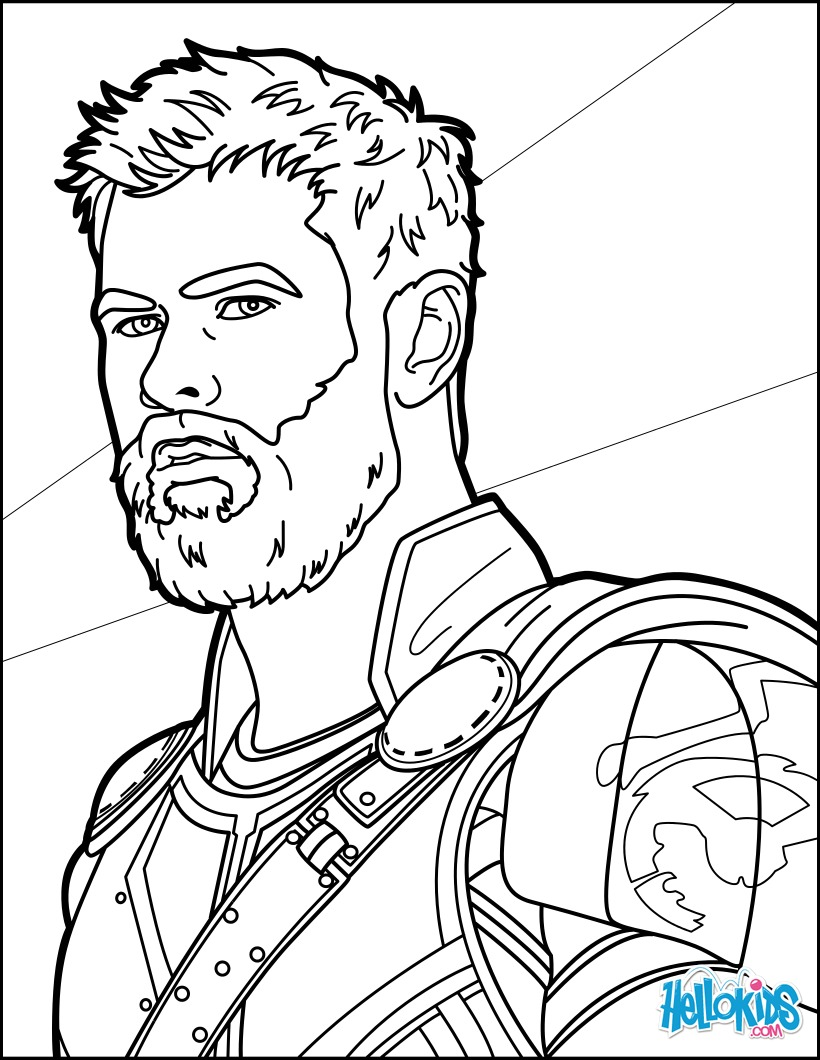 820x1060 Thor Ragnarok Coloring Pages