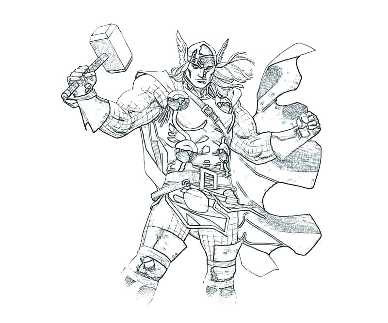 800x667 Coloring Thor Avenger Pop Thorn Coloring Pages Interconnect Site