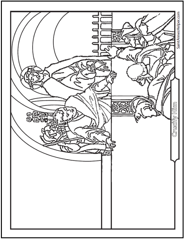590x762 Christ With Crown Of Thorns Coloring Page Rosary Coloring Pages