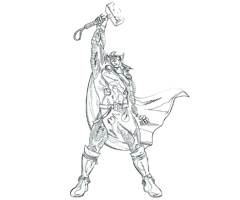 800x667 Thor Coloring Page Coloring Page Best Coloring Pages Pic Coloring