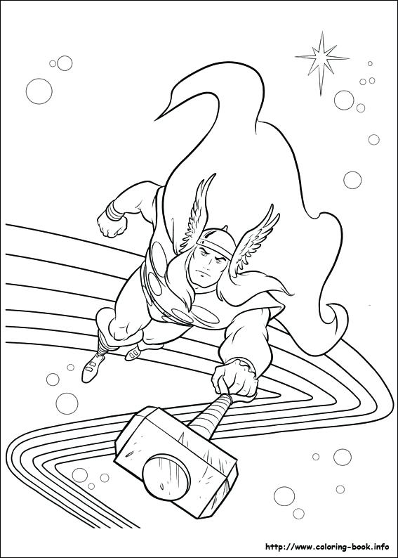 567x794 Thor Coloring Page Coloring Picture Thor Hammer Coloring Pages