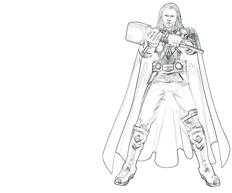 800x667 Thor Coloring Page Marvel Coloring Pages A Thor Hammer Coloring