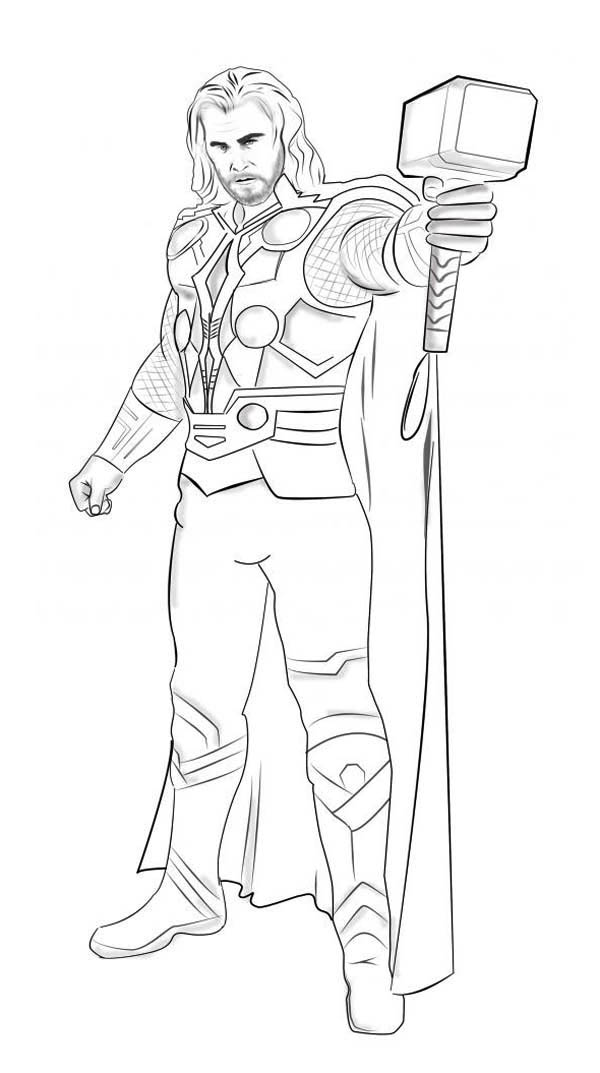 600x1073 Thor Coloring Pages