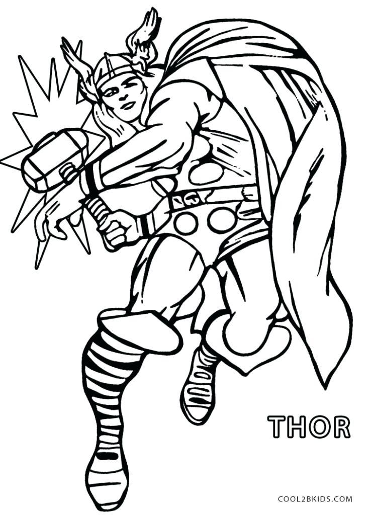 736x1024 Thor Coloring Pages Coloring Pages Colouring Free Printable
