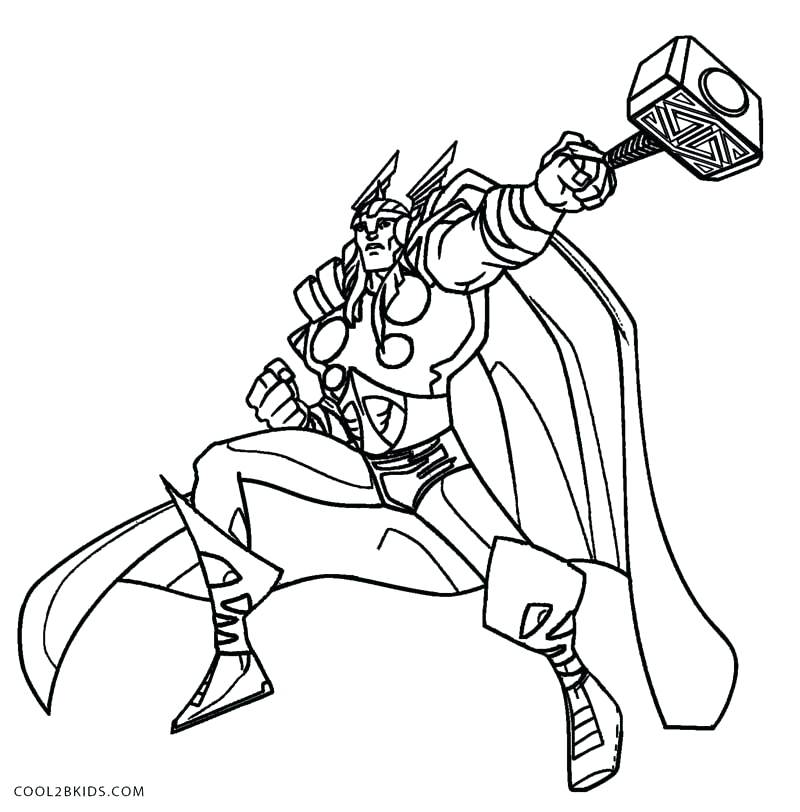 800x812 Thor Coloring Sheet Movie Coloring Pages Thors Hammer Coloring