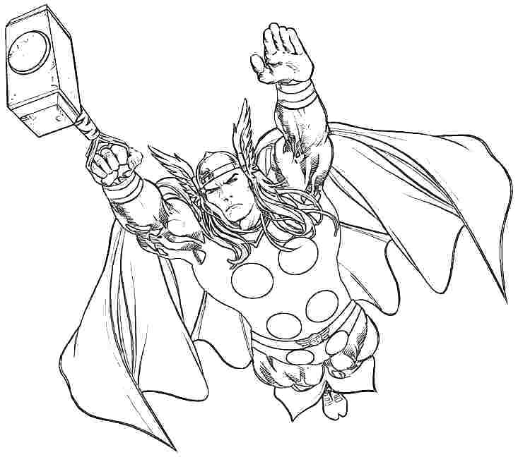 733x648 Thor Coloring Sheet S Thors Hammer Coloring Page