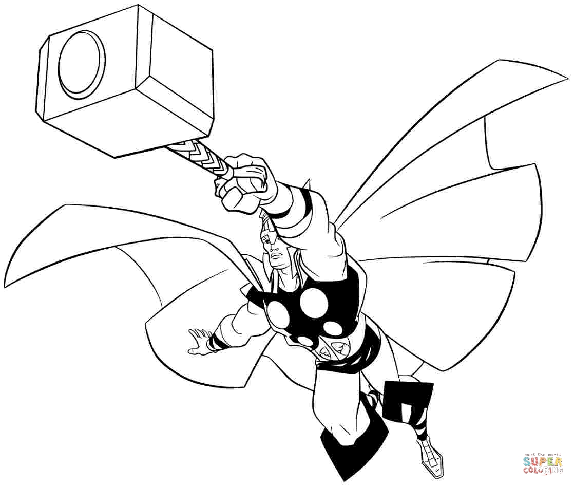 1118x946 Thor Hammer Coloring Pages To Print Coloring For Kids
