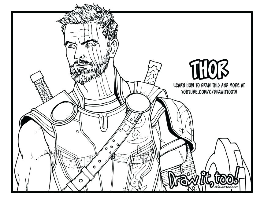863x667 Thor Hammer Coloring Sheet Pages Marvel
