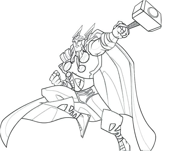600x500 Thors Hammer Coloring Page Pages