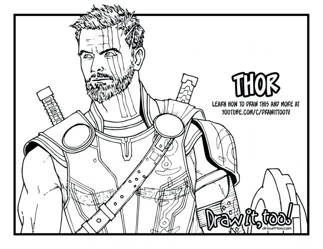 647x500 Coloring Page Thor Coloring Page Cute Pages Thors Hammer Thor
