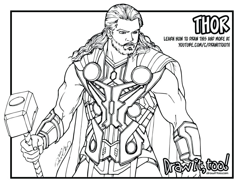 1024x791 Coloring Page Thor Coloring Page Top Pages Pic Hammer Thor