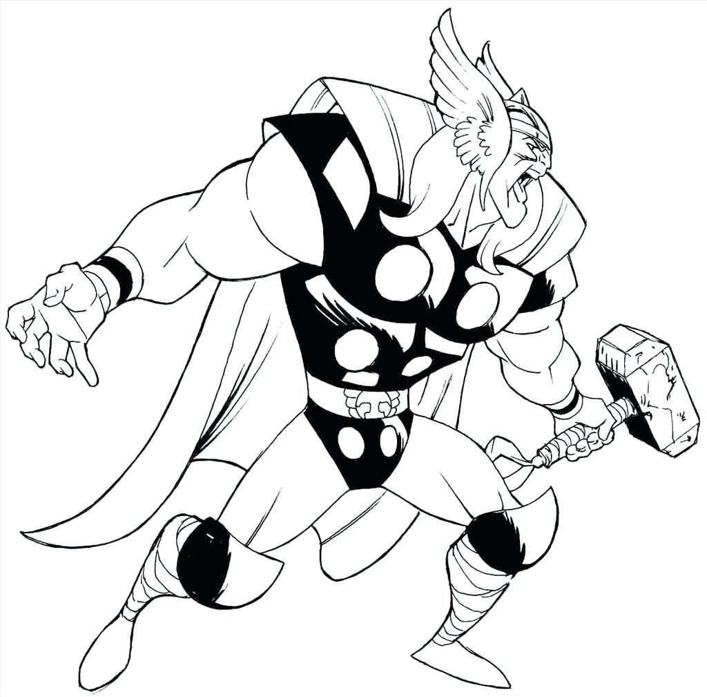 1024x1009 Coloring Pages Thor Coloring Pages Ideal Wallpaper Easy Thor