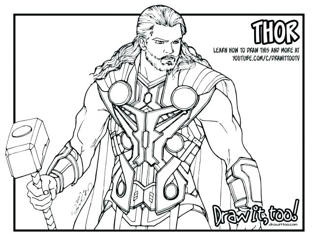 647x500 Thor's Hammer Coloring Page Thor Coloring Pages Coloring Page