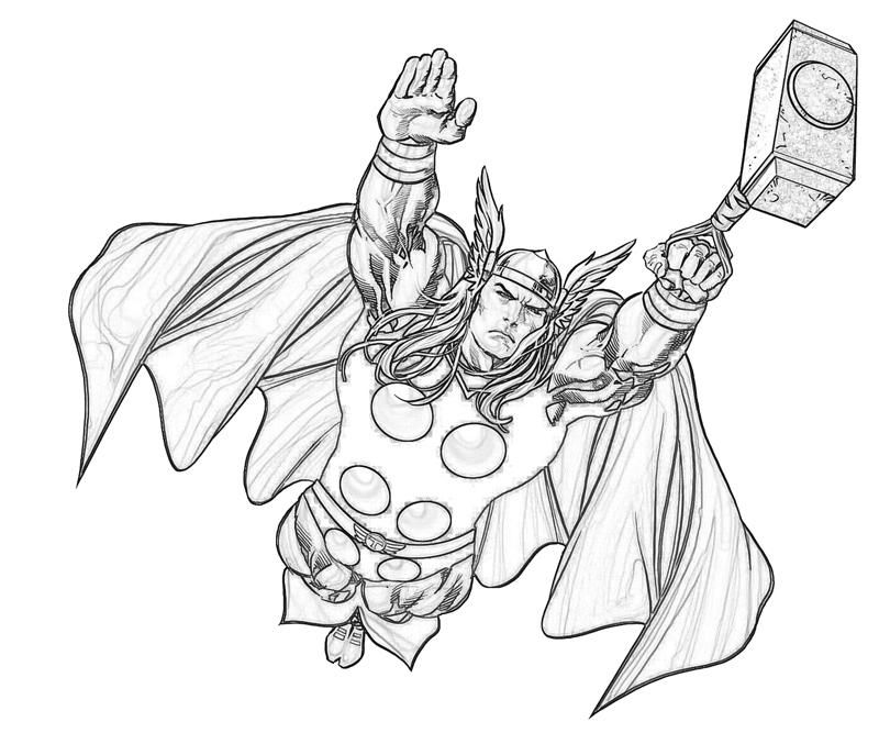 800x667 Thor Coloring Pages