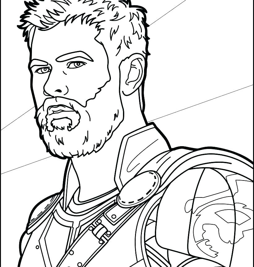 820x864 Coloring Pages Thor Thor Hammer Colouring Pages