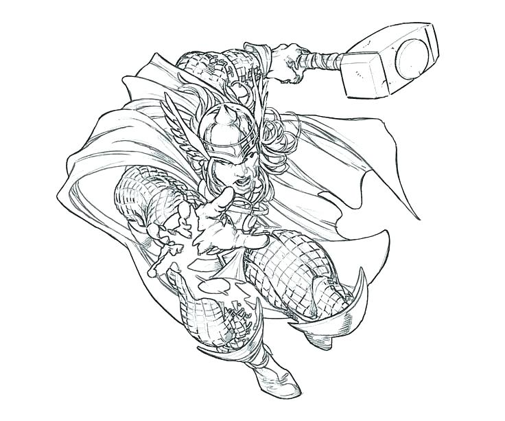 736x613 Hammer Coloring Page Thor Hammer Colouring Page