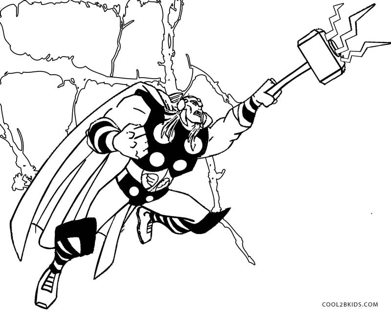 800x649 Printable Thor Coloring Pages For Kids