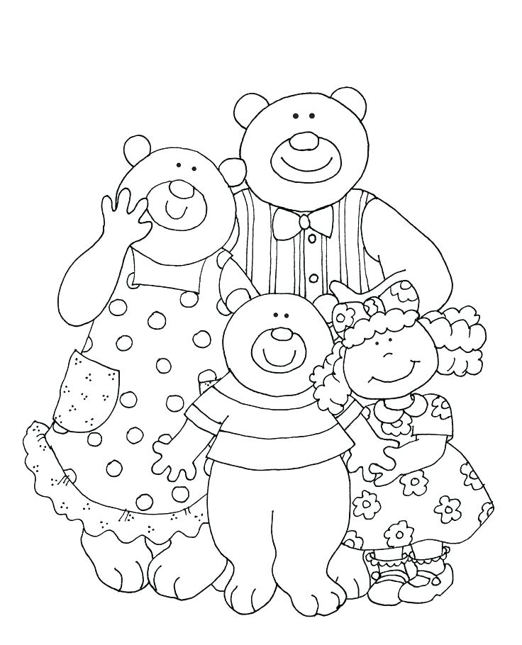 Three Bears Coloring Pages