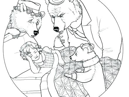 440x330 Goldilocks Coloring Page Coloring Pages Coloring Page