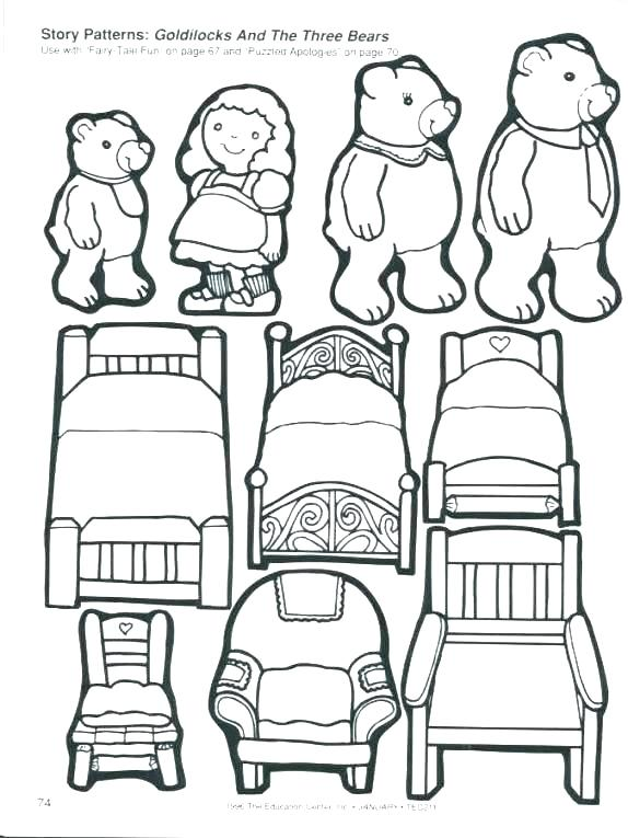 574x765 Goldilocks Coloring Page Coloring Pages Royalty Free Illustration
