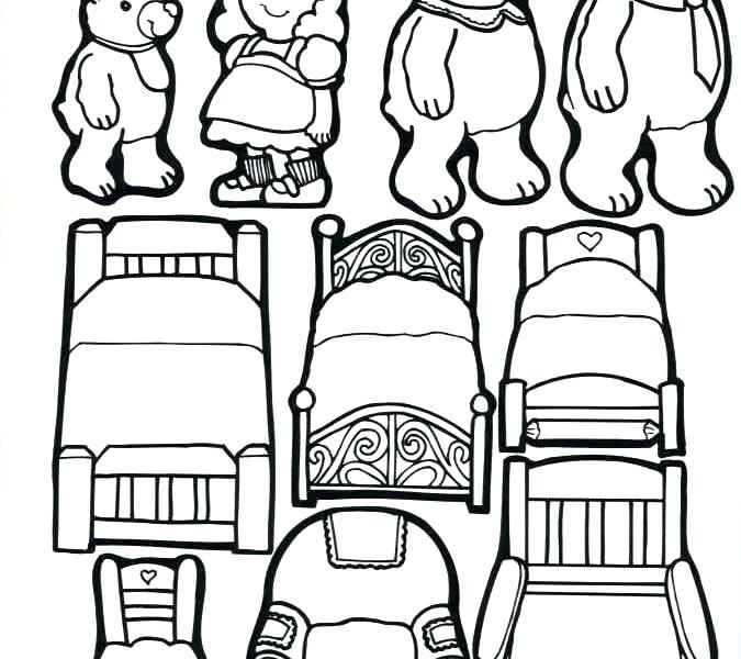 675x600 Goldilocks Coloring Page Printable Coloring Pages Three Bears