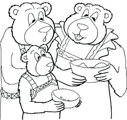 425x400 Goldilocks Coloring Page The Three Bears Coloring Pages Three