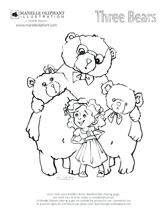 687x889 And The Three Bears Coloring Pages And The Three Bears Coloring